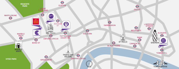 Our conference venue locations in London